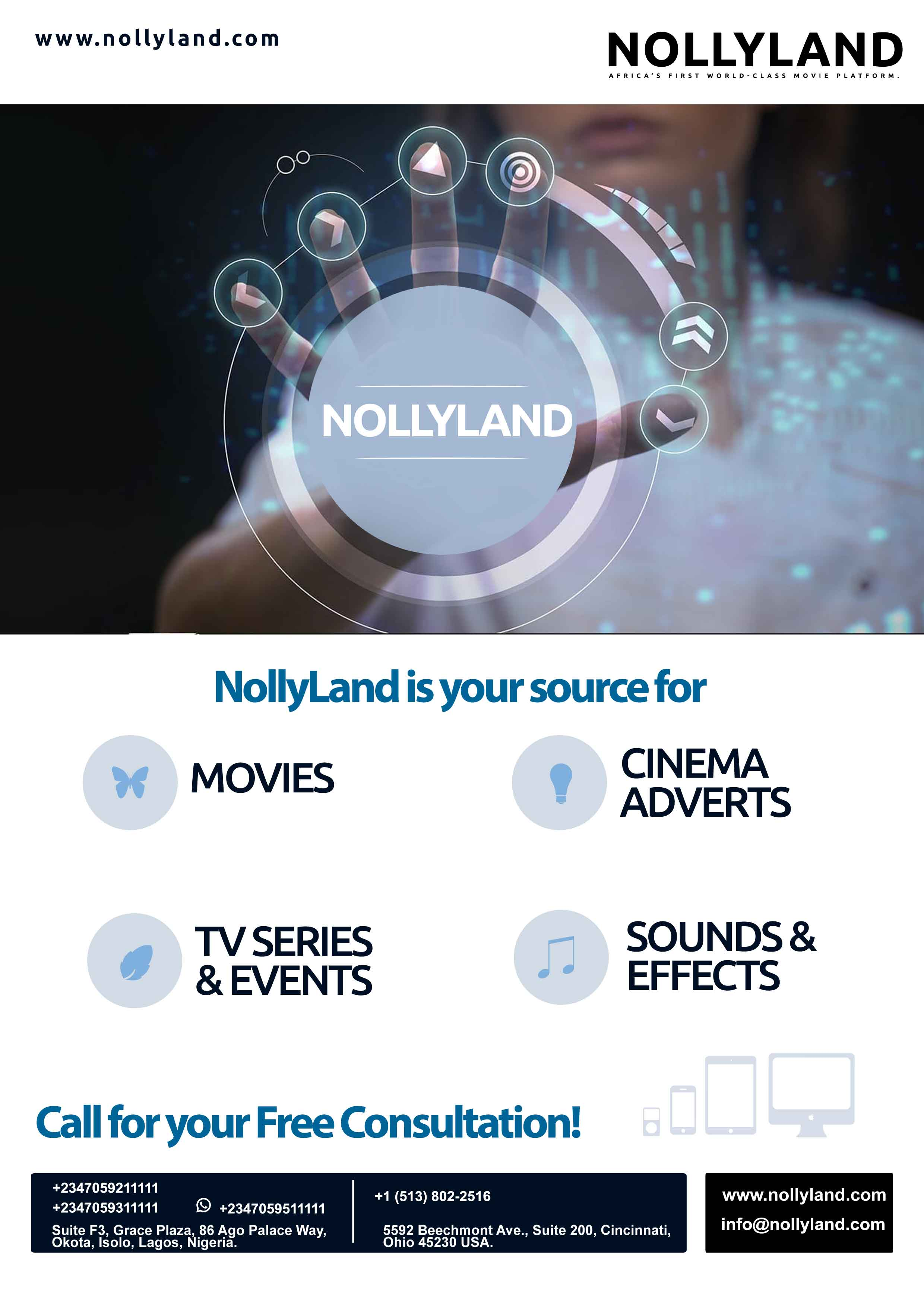 NollyLand Cinema Adverts