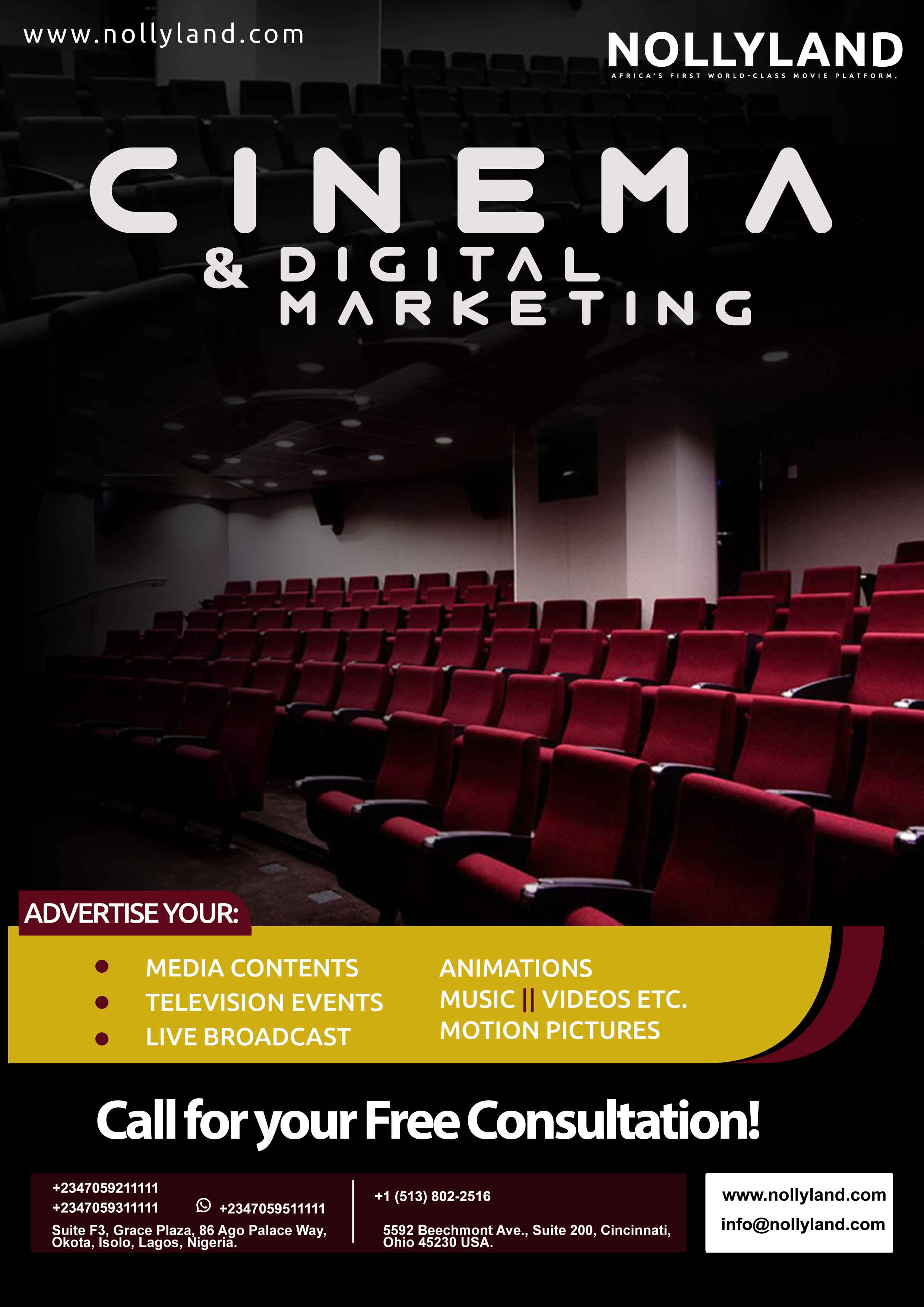 NollyLand Cinema Digital Marketing