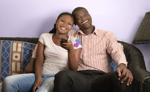 Couple Watching Nollywood Movies on NollyLand